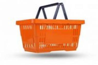 Пластиковые покупательские корзины