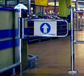 Автоматические рамки-ворота для пропуска покупателей