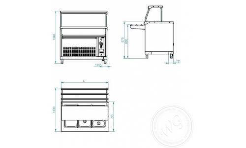 Прилавок холодильныйABAT АСТА ПВВ(Н)-70КМ-03-НШ