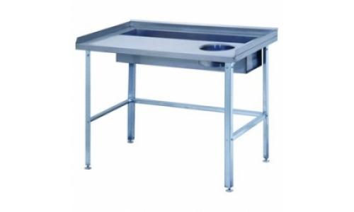 Стол для доочистки овощей СО-1/1200/800, столешница из нержавеющей стали