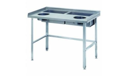 Стол для доочистки овощей СО-2/1500/800 столешница из нержавеющей стали