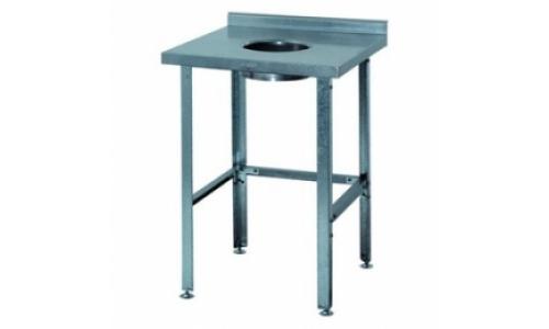 Стол для сбора отходов СРО-3/600, столешница - нержавеющая сталь