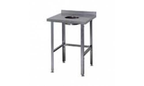 Стол для сбора отходов СРО, столешница - нержавеющая сталь