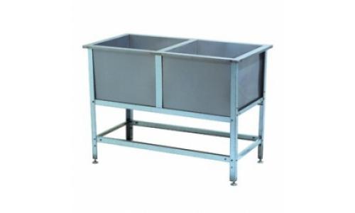 Ванна моечная ВСМ 2/430 (2/530, 2/600, 2/700), емкость-нержавеющая сталь, каркас-оцинковка