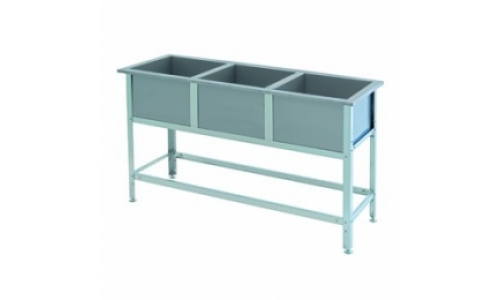 Ванна моечная ВСМ 3/430 (3/530, 3/600, 3/700), емкость-нержавеющая сталь, каркас-оцинковка