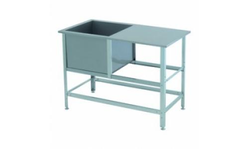 Ванна моечная ВСМС 1/430 (1/530, 1/600, 1/700) емкость нержавеющая сталь, каркас оцинкованная сталь